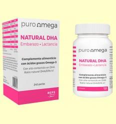 Natural DHA Embarazo y Lactancia - Puro Omega - 240 perlas
