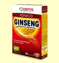 Ginseng BIO - Dinastía Imperial - Tónico - Ortis - 20 comprimidos *