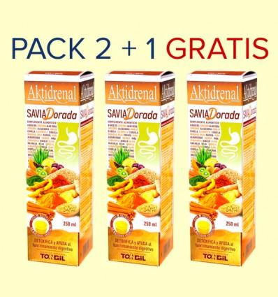 Aktidrenal Savia Dorada - Tongil - Pack 2+1 GRATIS - 750 ml