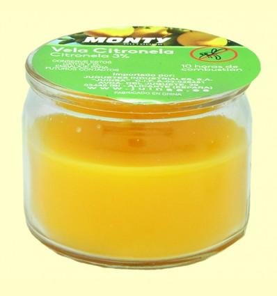 Vela en vaso cristal de citronela - Monty - 70 gramos