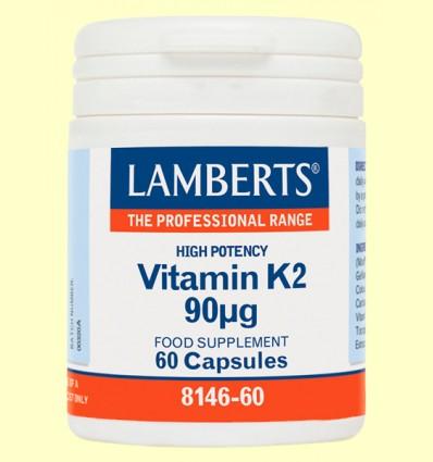 Vitamina K2 90 µg - Lamberts - 60 cápsulas