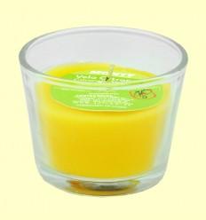 Vela en vaso cristal de citronela - Monty - 32 gramos