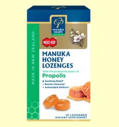 Caramelos de Miel de Manuka MGO 400+ con Própolis - Manuka Health - 65 gramos