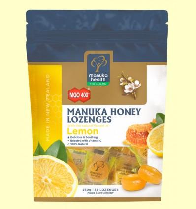 Caramelos de Miel de Manuka MGO 400+ con Limón - Manuka World - 250 gramos