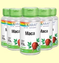 Maca - Solaray - Pack 5 unidades de 100 cápsulas de 525 mg