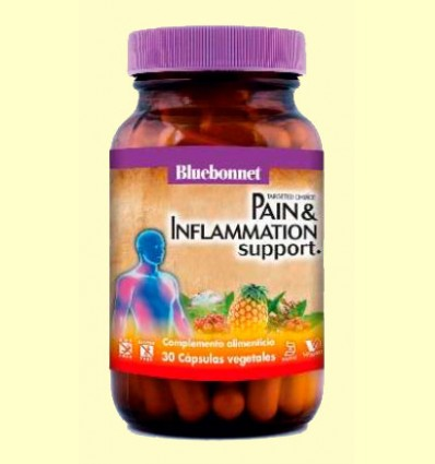 Pain & Inflamation Support - Apoyo Antiinflamatorio - Bluebonnet - 30 cápsulas