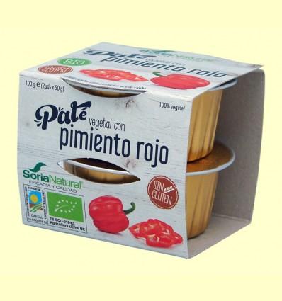 Paté Vegetal de Pimiento Rojo Bio - Soria Natural - 100 gramos