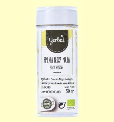 Pimienta Negra Molida Eco - Yerbal - 50 gramos