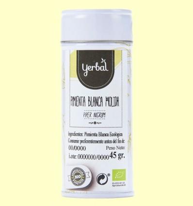 Pimienta Blanca Molida Eco - Yerbal - 45 gramos