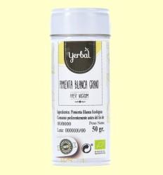 Pimienta Blanca en Grano Eco - Yerbal - 50 gramos