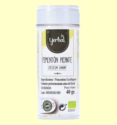Pimentón Picante Eco - Yerbal - 40 gramos