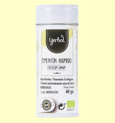 Pimentón Ahumado Eco - Yerbal - 40 gramos