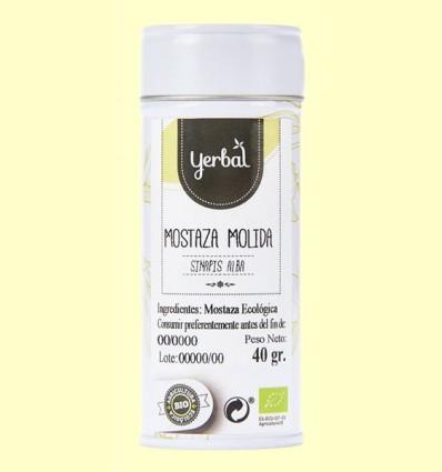 Mostaza Amarilla Molida Ecológica - Yerbal - 40 gramos