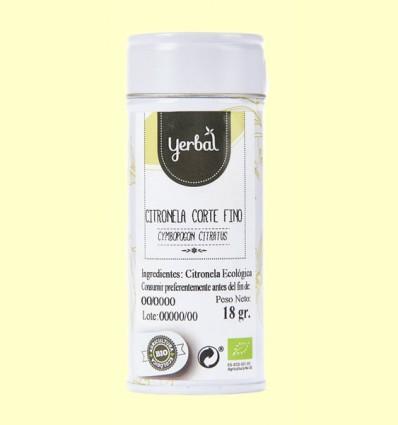 Citronela Corte Fino Ecológica - Yerbal - 18 gramos.
