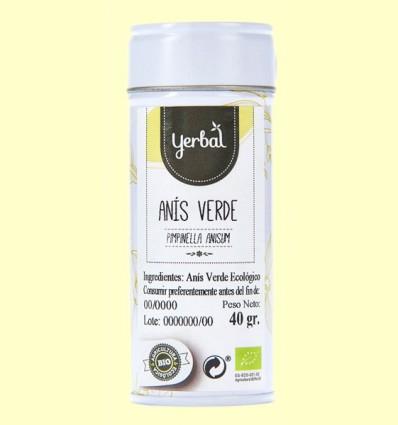 Anís Verde Ecológico - Yerbal - 40 gramos