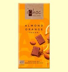 Chocolate Almendra y Naranja Bio - ichoc - 80 gramos