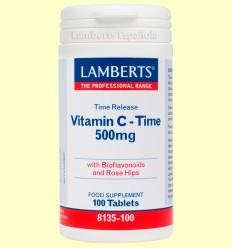 Vitamina C de Liberación Sostenida 500 mg - Lamberts - 100 tabletas