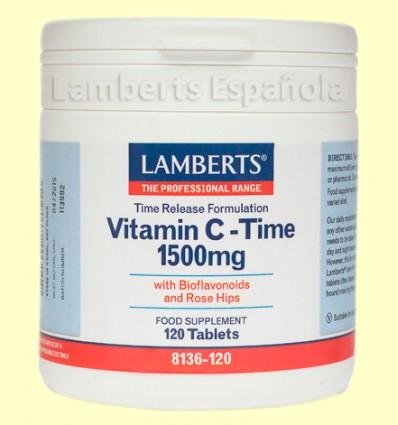 Vitamina C de Liberación Sostenida - Lamberts - 1500 mg 120 tabletas