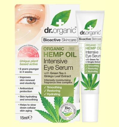 Suero Contorno de Ojos de Aceite de Cáñamo Bio - Dr.Organic - 15 ml