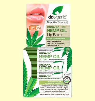 Bálsamo Labial de Aceite de Cáñamo Bio - Dr.Organic - 5,7 ml