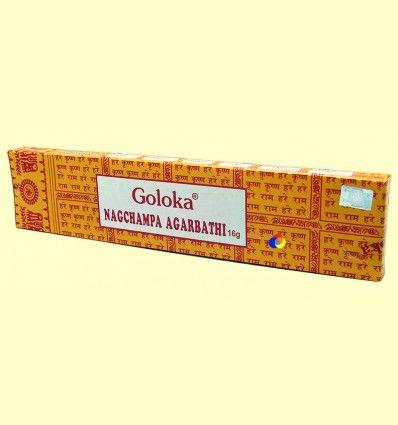 Incienso Nagchampa Agarbathi - Goloka - 16 gramos