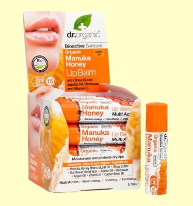Bálsamo Labial de Miel de Manuka Bio - Dr.Organic - 5,7 ml