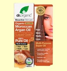 Aceite Puro de Argán Marroquí Bio - Dr.Organic - 50 ml