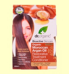 Tratamiento Acondicionador Restaurador de Aceite de Argán Marroquí - Dr.Organic - 200 ml