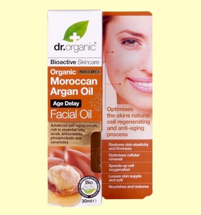 Aceite Facial de Aceite de Argán Marroquí - Dr.Organic - 30 ml