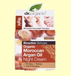 Crema de Noche Aceite de Argán Marroquí Bio - Dr.Organic - 50 ml