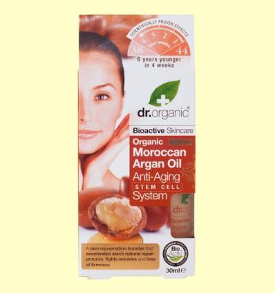 Sistema Anti Edad con Células Madre de Aceite de Argán Marroquí Bio - Dr.Organic - 30 ml