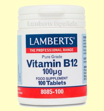 Vitamina B12 100 µg - Lamberts - 100 Tabletas *