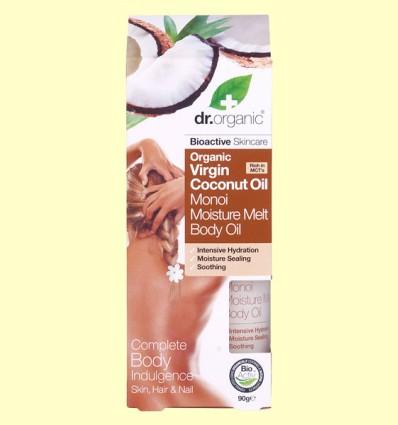 Aceite Corporal Hidratante de Aceite de Coco Bio - Dr.Organic - 100 ml