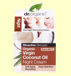 Crema de Noche de Aceite de Coco Bio - Dr.Organic - 50 ml