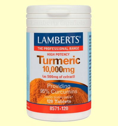 Turmeric - Cúrcuma 10.000 mg - Lamberts - 120 tabletas