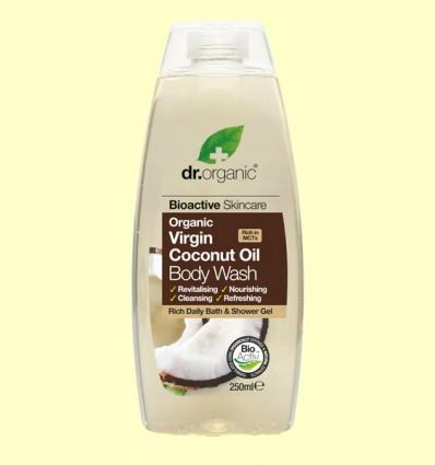 Gel de Baño de Aceite de Coco Bio - Dr.Organic - 250 ml