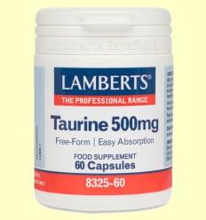 Taurina 500 mg - Lamberts - 60 cápsulas