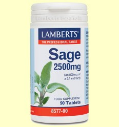 Salvia 2.500 mg - Lamberts - 90 tabletas