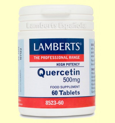 Quercitina 500 mg - Lamberts - 60 tabletas