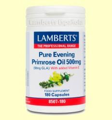 Onagra Aceite de Prímula Puro 500 mg - Lamberts - 180 cápsulas