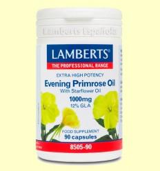Onagra Aceite de Prímula Alta Potencia (Con Aceite de Borraja) - Lamberts - 90 cápsulas