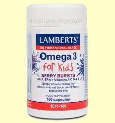 Omega 3 para niños - Lamberts - 100 tabletas
