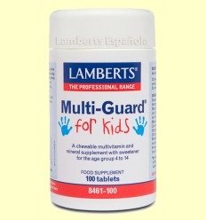 MultiGuard® For Kids - Laboratorios Lamberts - 100 tabletas