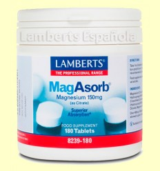 MagAsorb® (magnesio) - Lamberts - 150mg 180 tabletas