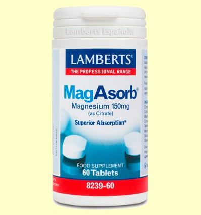 MagAsorb - Magnesio - Lamberts - 60 tabletas