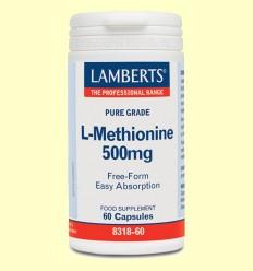 L-Metionina - Lamberts - 500 mg 60 cápsulas