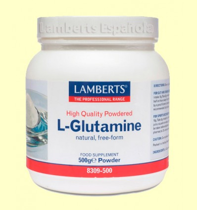 L-Glutamina (en polvo de alta calidad) - Lamberts - 500 gramos