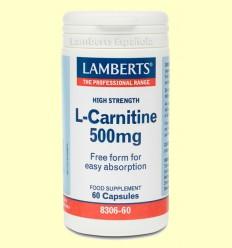 L-Carnitina 500 mg - Lamberts - 60 cápsulas