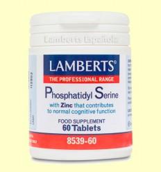 Fosfatidil Serina 100 mg + Zinc - Lamberts - 60 tabletas