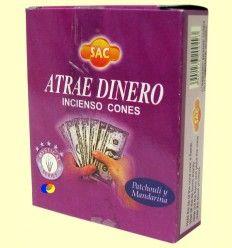Incienso Conos Atrae Dinero - SAC - 10 conos